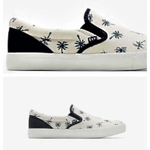 9 10 new MEN'S EXPRESS PALM TREE SLIP ON SNEAKERS